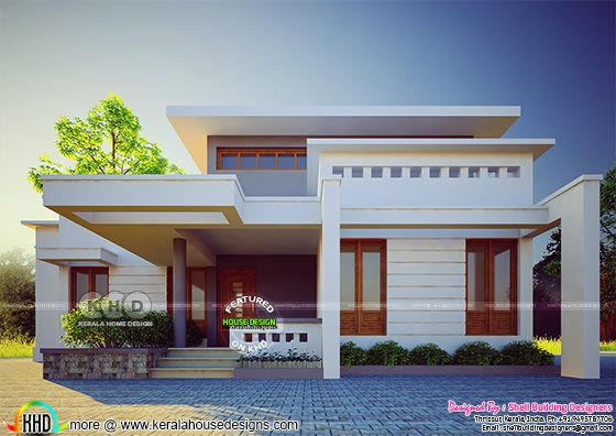 Grand flat roof home 2777 square feet
