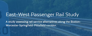 MassDOT is conducting a study to examine the costs, benefits, and investments necessary to implement passenger rail service from Boston to Springfield and Pittsfield