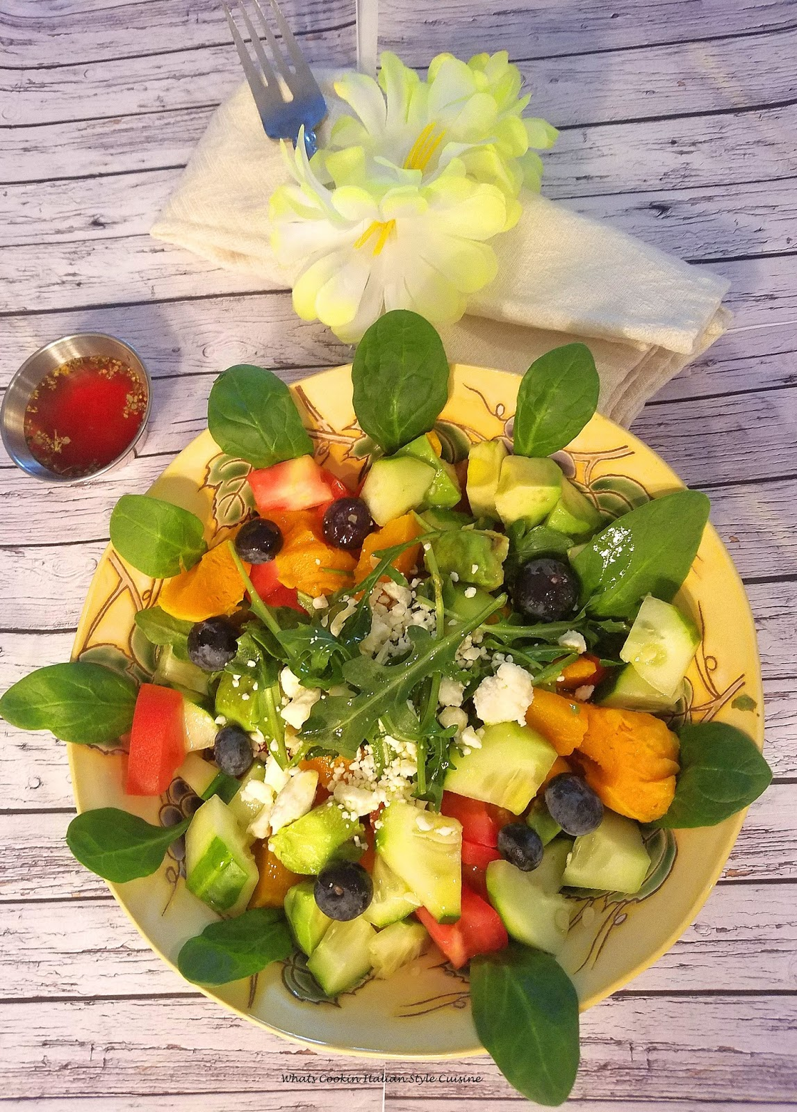 Butternut Squash Arugula Winter Salad
