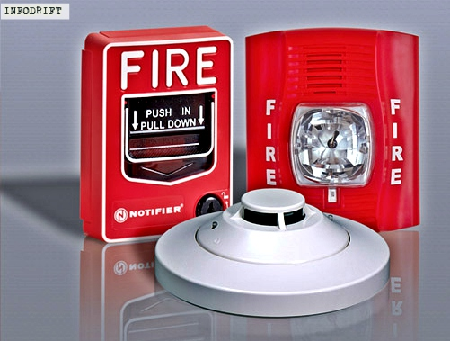 fire alarm and smoke detector