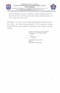 Press Release COVID-19 Tarakan 18 Juni 2020 - Tarakan Info