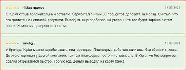 Отзывы о kiplar.org