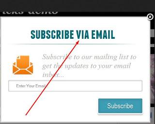 pop up subscription widget