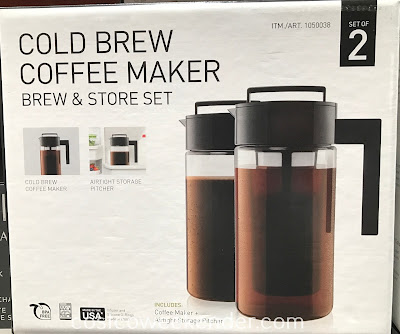 Make yourself a hot or iced coffee with the Takeya Cold Brew Coffee Maker Brew and Store Set