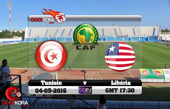 مشاهدة مباراة تونس وليبيريا اليوم 4-9-2016 تصفيات كأس أمم أفريقيا