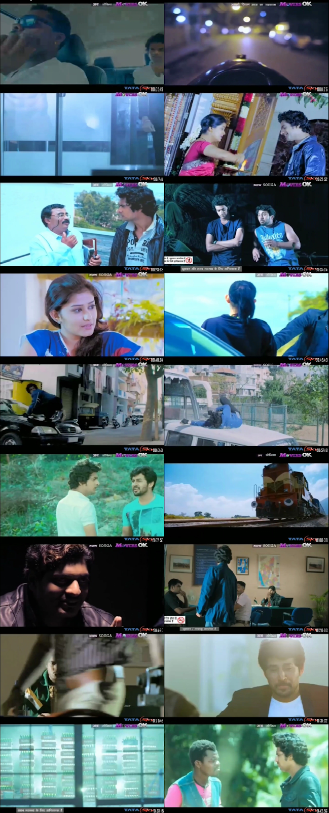 Screen Shot Of Tollywood Movie Sojiga 2016 Full Movie In Hindi Dubbed Free download 720P HD