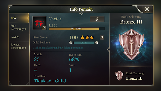 Tips bermain arena of valor