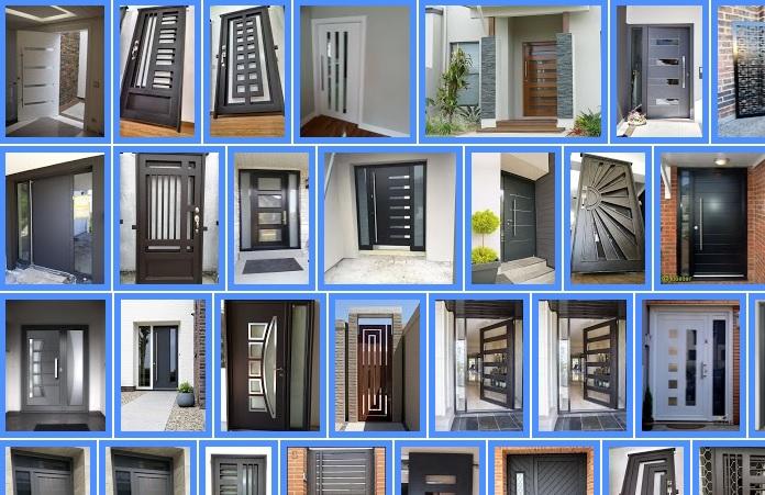 Diseño de puertas modernas de entrada principal en herrería