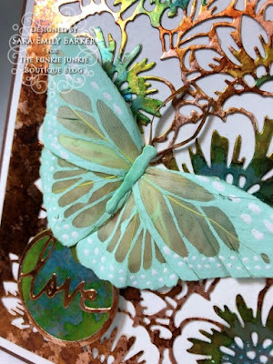 Sara Emily for The Funkie Junkie Boutique https://frillyandfunkie.blogspot.com/2020/01/saturday-showcase-tim-holtz-bouquet.html Tim Holtz Bouquet Curio Box Candy Box  and Card Tutorial 31