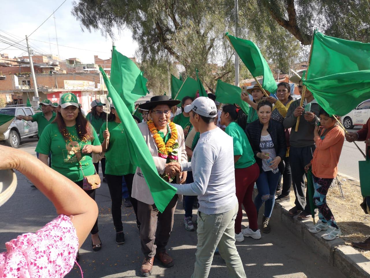Patzi en campaña en Yacuiba el fin de semana / PRENSA MTS