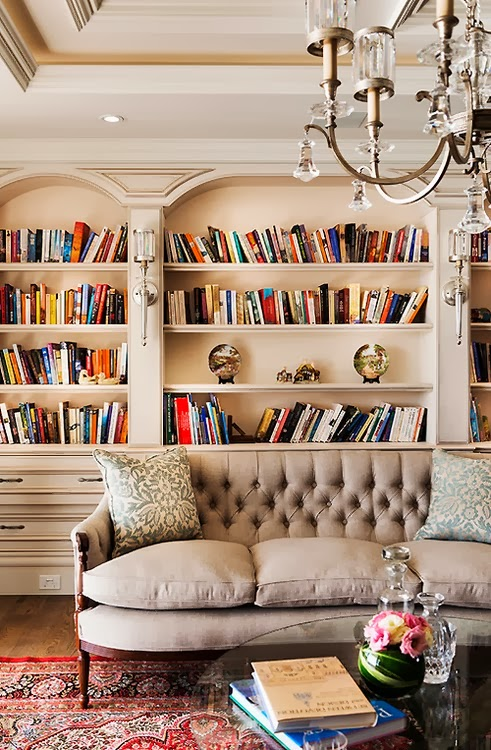 Living Room Library: Cool Chic Style Fashion