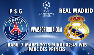 Prediksi PSG vs Real Madrid 7 Maret 2018