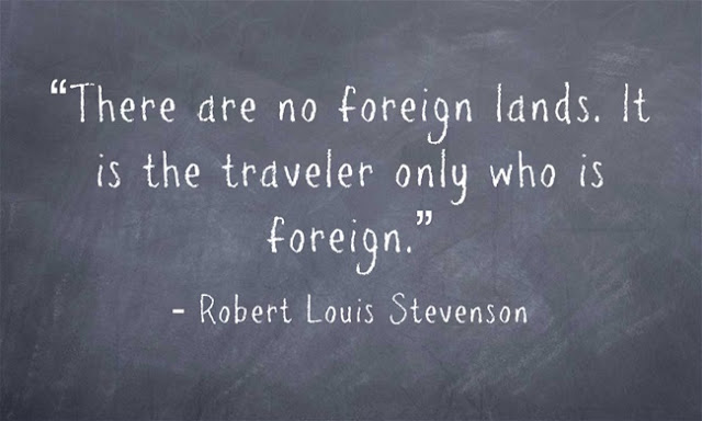 Robert Louis Stevenson quote bout travelling