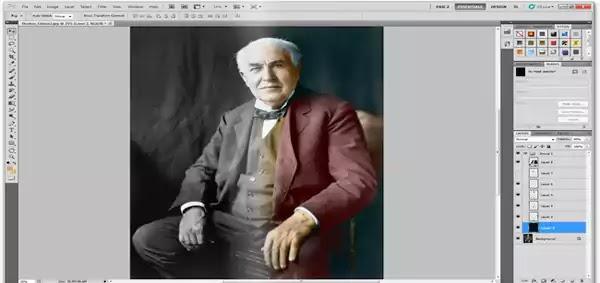 تلوين الصور Photoshop