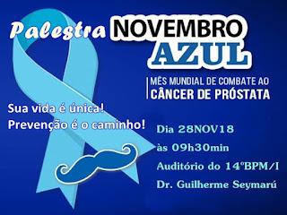 14º BPM/I promove palestra Novembro Azul e Saúde do Homem