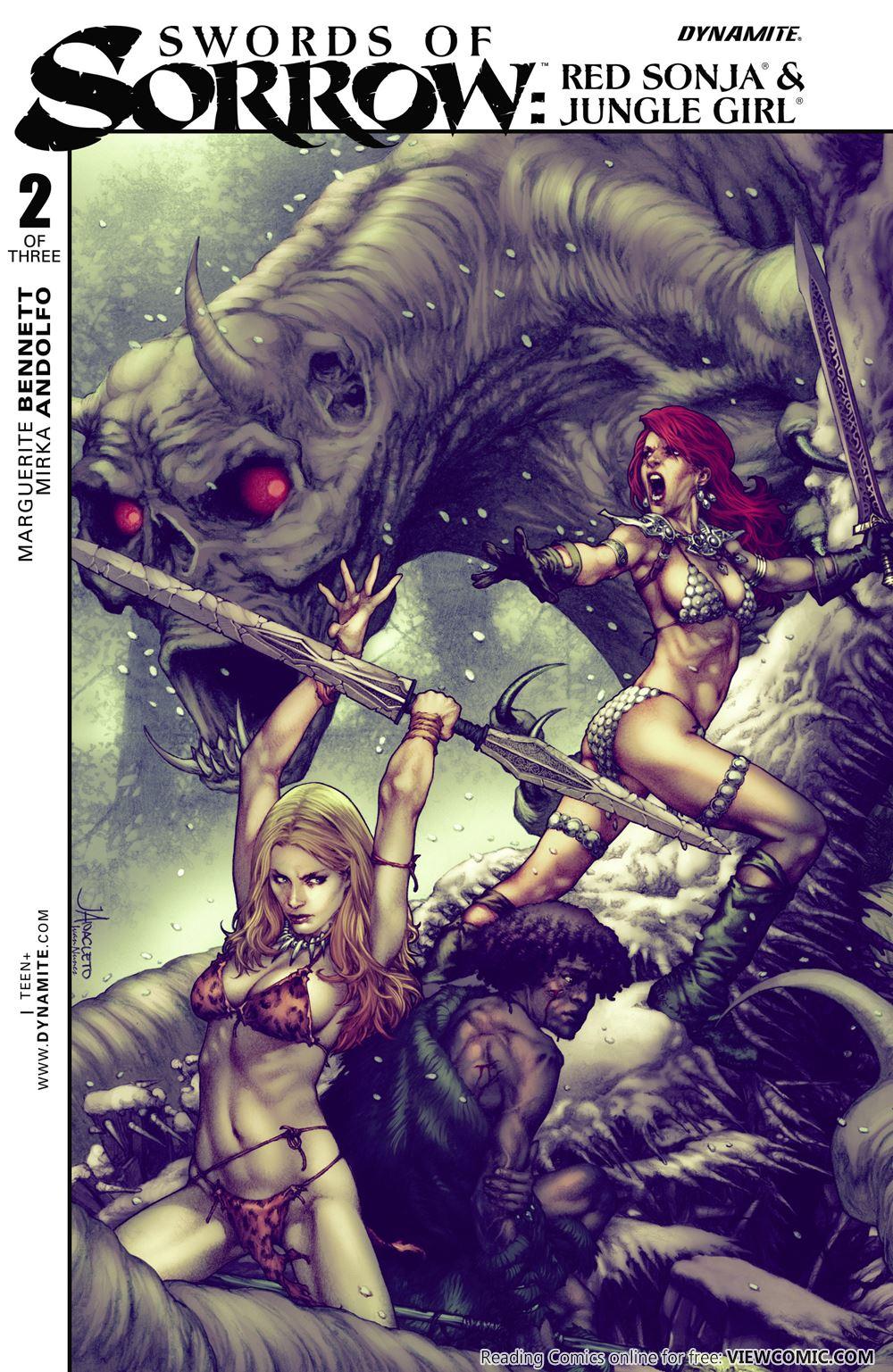 Swords of Sorrow – Red Sonja & Jungle Girl | Viewcomic reading