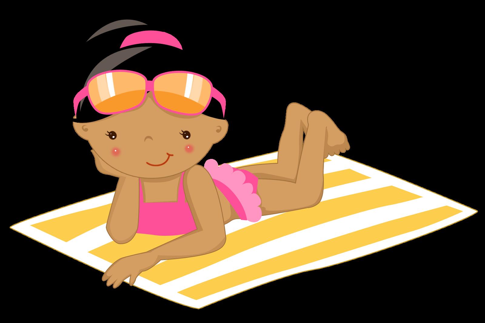 Enjoying the Beach Clipart. | Oh My Fiesta! in english