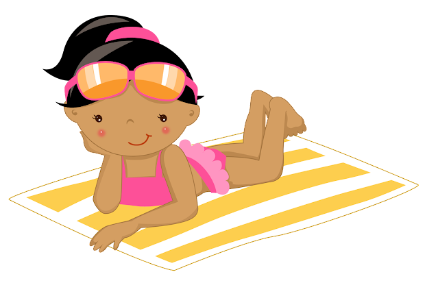 Enjoying Beach Clipart. Fiesta In English