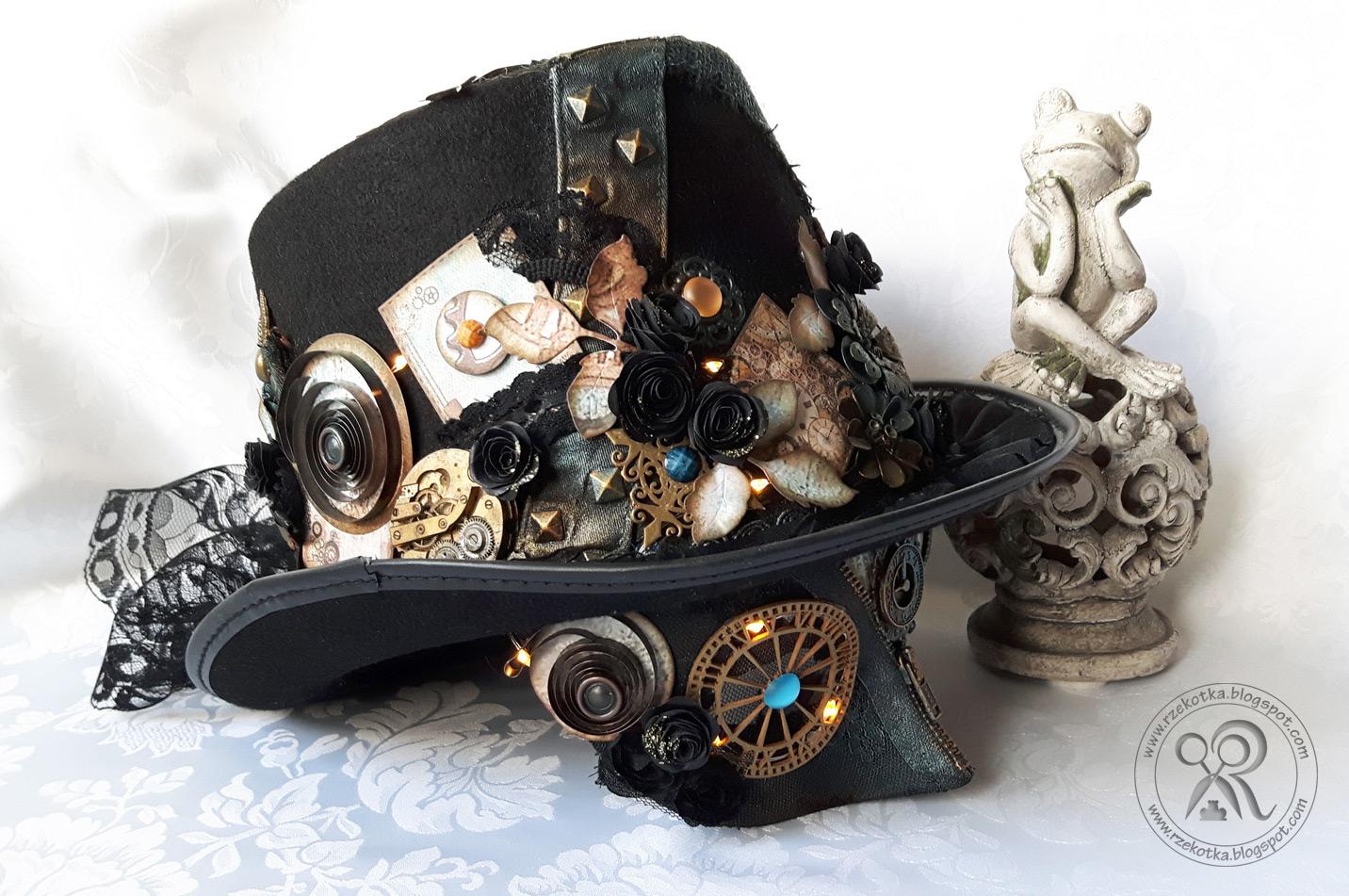 Maska karnawałowa w stylu steampunk