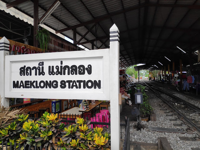 Maeklong Railway Station Shoestring Travel
