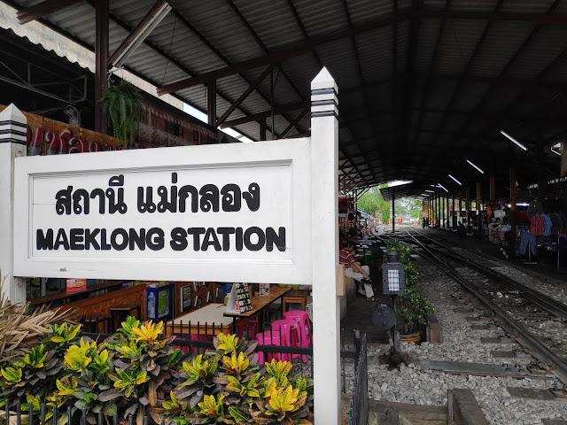 Maeklong Railway Station Shoestring Travel