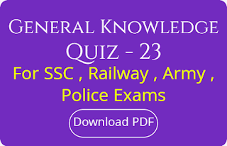 General Knowledge Quiz - 23
