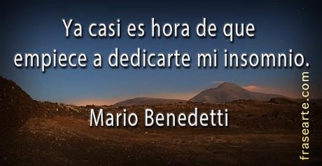 Frases para la noche - Mario Benedetti