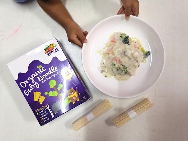 Resepi Spaghetti Carbonara Kegemaran Anak Menggunakan Mee Organik Fawwaz