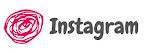 círculo cor de rosa com a palavra Instagram