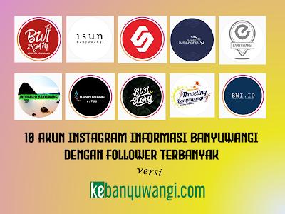 10 Akun Instagram Informasi Banyuwangi dengan Follower Terbanyak