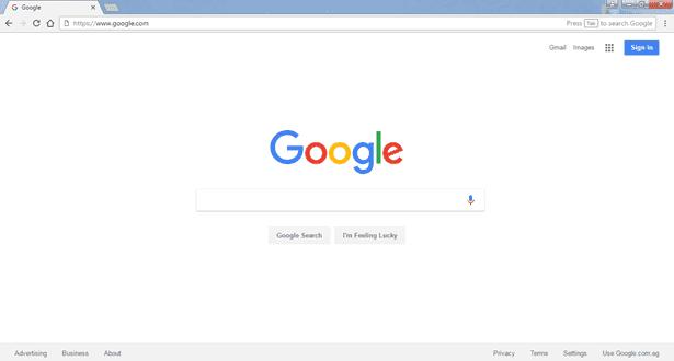 واجهة برنامج Google Chrome