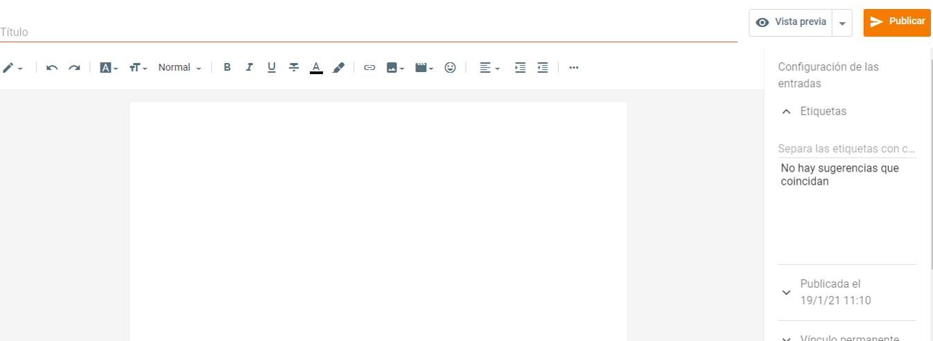 como escribir entradas en un blog