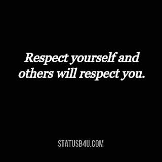 Short Self Respect Captions