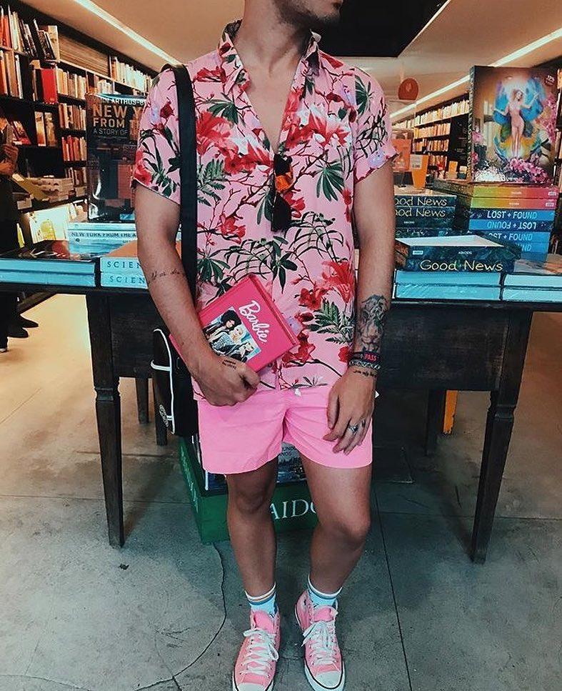 look masculino verao e carnaval 2019