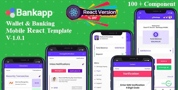 Best Wallet & Banking React Mobile Template