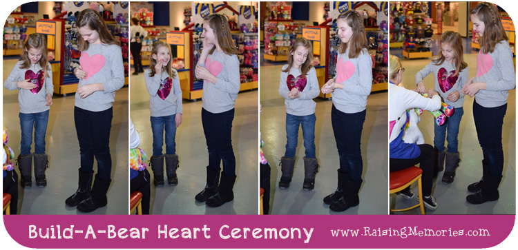 Valentine Heart Ceremony for Build A Bear