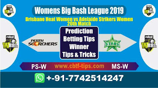 Who will win Today WBBL 2019, 20th Match BHW vs ASW 20th, WBBL T20 2019