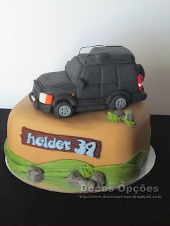 bolo aniversário jipe bragança land rover