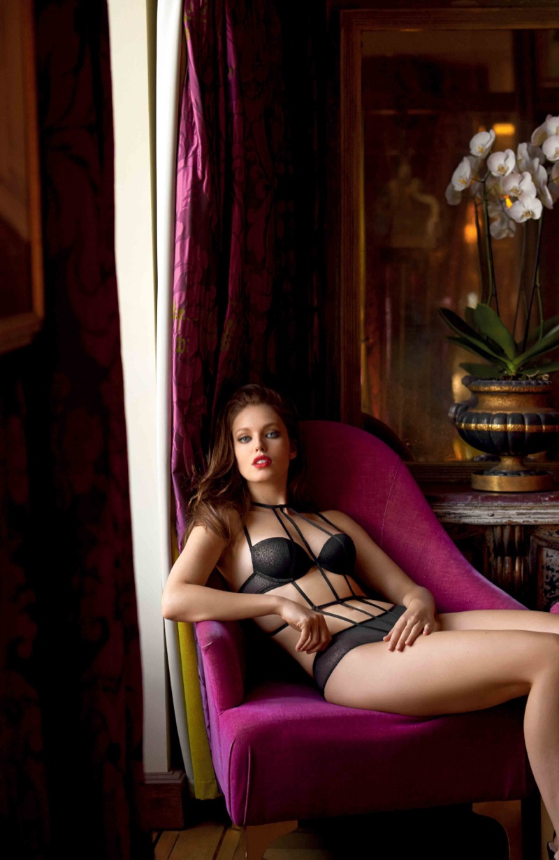 Emily DiDonato sizzles for the Yamamay Christmas Lingerie Lookbook 2016
