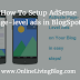 How To Setup AdSense Page-level ads in BlogSpot?