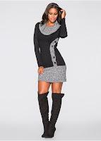 Rochie tricotată care evidentiaza silueta (bonprix)