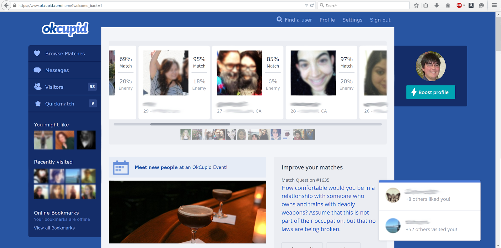 Okcupid quickmatch view profile