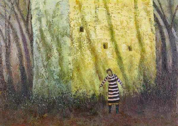 """""""By The Woods"""" art by Simon Garden - oil on panel, 2017 