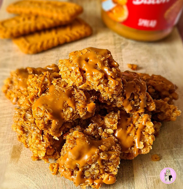 Lotus Biscoff Flapjack Bites Recipe Low Calorie Slimming Friendly