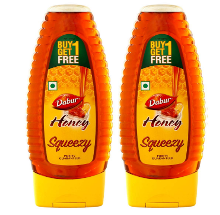 Dabur 100% Pure Honey Squeezy Pack 400g ( Buy 1 Get 1 Free)