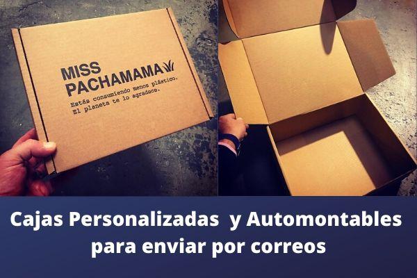 cajas personalizadas y automontables para enviar por correos