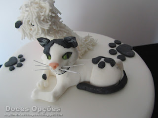 dog cat sugar paste