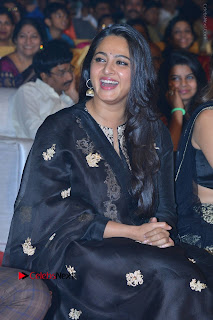 Actress Anushka Anushka Shetty Stills in Black Salwar Kameez at Om Namo Venkatesaya Audio Launch Event  0035.JPG