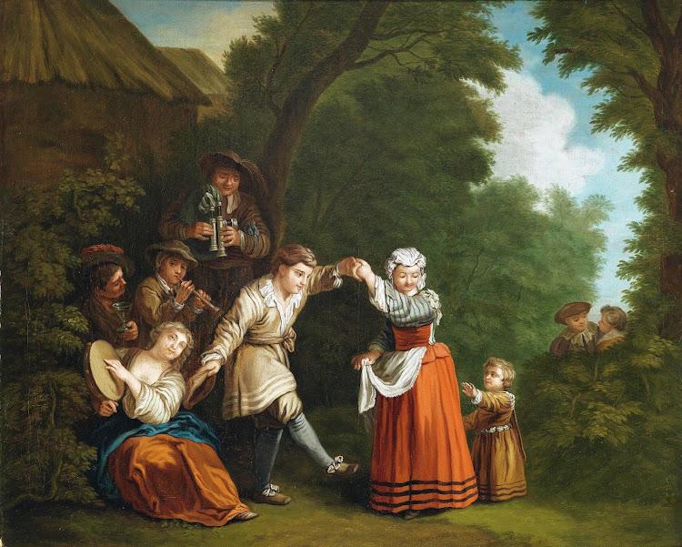 Jean-Baptiste Leprince - Landlicher Tanz mit Sackpfeifer