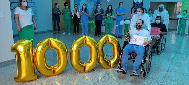 O Hospital Regional de Luziânia celebra milésima alta de pacientes recuperados da Covid-19